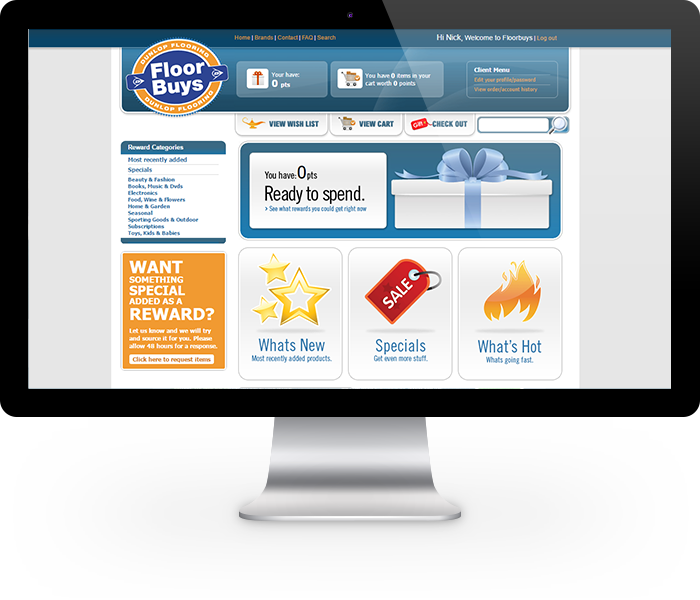 Online loyalty programme